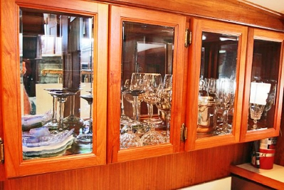 Glass Storage with Mirrored Back   click image to enlarge