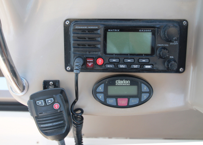 Standard Horizon VHF and Stereo Control   click image to enlarge