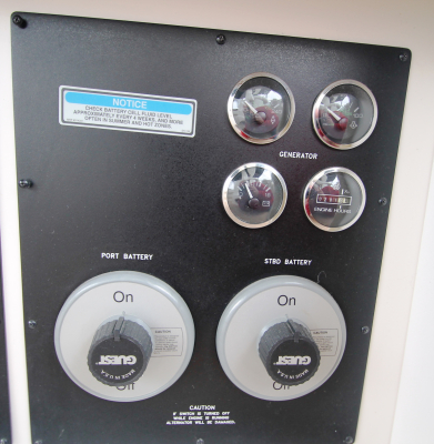 Generator Panel and Guest Switches   click image to enlarge